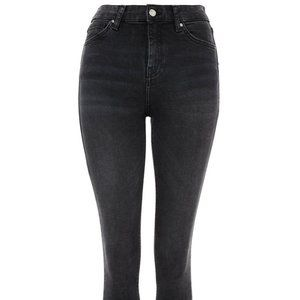 TOPSHOP MOTO JAMIE JEANS WASHED BLACK